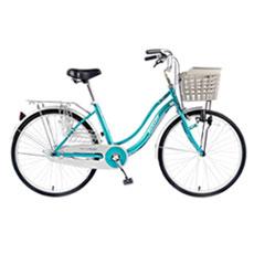 【DUNLOP】24吋單速磨電燈淑女車-藍綠(D-PA240)