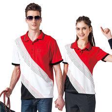【SPAR】吸濕排汗男版短袖POLO衫(SP48466)炫紅色