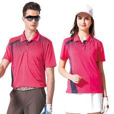 【SPAR】吸濕排汗男版短袖POLO衫(SP48464)深桃紅色