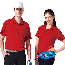 【SPAR】吸濕排汗男版短袖POLO衫(SP48372)炫紅色