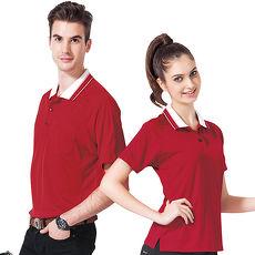 【SPAR】吸濕排汗女版短袖POLO衫(SP47284)紅色
