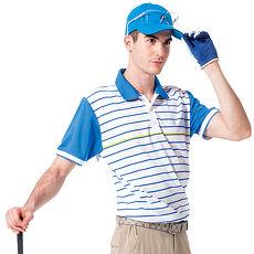 【SPAR】吸濕排汗男版短袖POLO衫(SP48376)青藍色2L