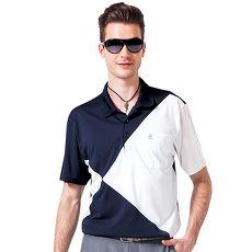 【SPAR】吸濕排汗男版短袖POLO衫(SP48379)丈青色