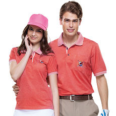 【SPAR】吸濕排汗男版短袖POLO衫(SP61611)紅橘色
