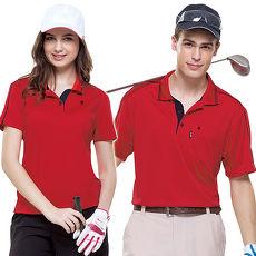 【SPAR】吸濕排汗女版短袖POLO衫(SP73554)炫紅色