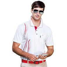 【SPAR】吸濕排汗男版短袖POLO衫(SP53788)白色