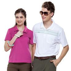 【SPAR】吸濕排汗女版短袖POLO衫(SP73592)桃紅色