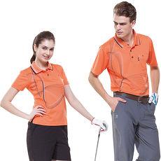 【SPAR】吸濕排汗男版短袖POLO衫(SP53786)鮮桔色