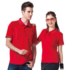【SPAR】吸濕排汗女版短袖POLO衫(SP74963)紅色