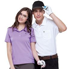 【SPAR】吸濕排汗女版短袖POLO衫(SP73963)淺紫色