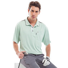 【SPAR】吸濕排汗男版短袖POLO衫(SP53124)淺綠色