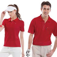 【SPAR】吸濕排汗女版短袖POLO衫(SP74123)紅色