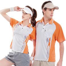 【SPAR】吸濕排汗男版短袖POLO衫(SP53783)白+中橘色