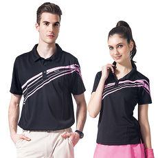 【SPAR】吸濕排汗男版短袖POLO衫(SP53781)黑色