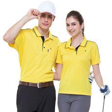 【SPAR】吸濕排汗男版短袖POLO衫(SP61556)亮黃色
