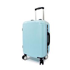 【WALLABY】20吋直條紋ABS鋁框行李箱/高光藍(HTX-1503-20BL)
