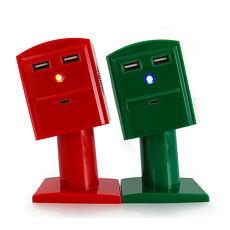 【SUMER】趣味彎腰郵筒雙喇叭音響行動電源(共兩色)