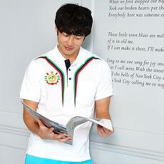 【LEIDOOE】白底搭三色線條男款短袖POLO衫16535