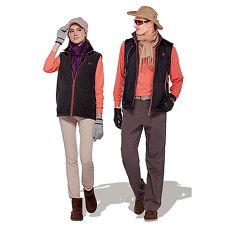 【Londa Polo】防潑水處理中性款雙面穿保暖背心(P86131)搖粒面/黑色+輔櫻桔色