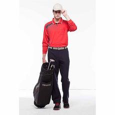 【SPAR】吸濕排汗男版長袖POLO衫(SP89814)炫紅色