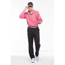【SPAR】吸濕排汗男版長袖POLO衫(SP89813)深桃紅色XL