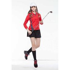 【SPAR】吸濕排汗女版長袖POLO衫(SP77814)炫紅色