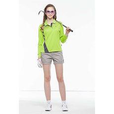 【SPAR】吸濕排汗女版長袖POLO衫(SP77811)亮綠色
