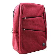 US DUCK簡約電腦後背包-酒紅色5-UN-170612-2