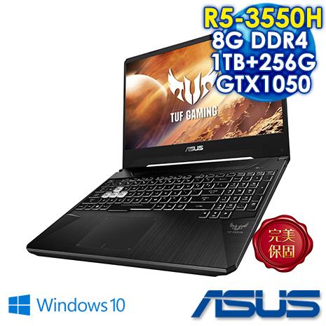 ASUS FX505DD-0061B3550H 戰斧黑 15吋電競筆電 AMD R5-3550H/FHD/8G/1TB+256G PCIE SSD/GTX 1050 3G獨顯/W10)
