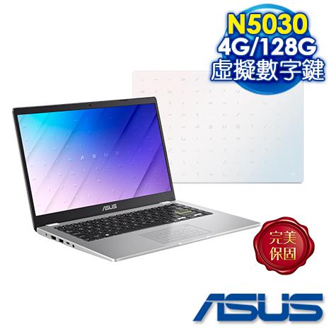 【雙11送禮券】ASUS E410MA-0191WN5030 夢幻白 (Celeron N5030/4G/128G/Wn10 S)