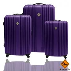 Gate9五線譜系列ABS輕硬殼旅行箱行李箱三件組(28+24+20吋)