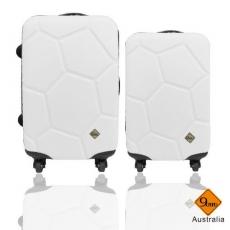 【Gate9】 經典世紀足球系列ABS輕硬殼行李箱/旅行箱/登機箱兩件組(20+24吋)