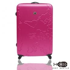 【Just Beetle】地圖系列ABS輕硬殼行李箱/旅行箱/登機箱/拉桿箱(24吋)