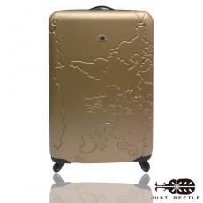 【Just Beetle】地圖系列ABS輕硬殼行李箱/旅行箱/登機箱/拉桿箱(20吋)