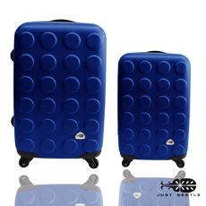 行李箱 旅行箱 Just Beetle積木系列(2820)ABS霧面輕硬殼 登機箱 拉桿箱二件組