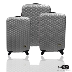 旅行箱 行李箱Just Beetle 編織風情系列ABS材質霧面輕硬殼 登機箱 拉桿箱 三件組
