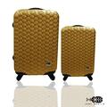旅行箱 行李箱Just Beetle 編織風情系列(28+20)ABS材質霧面輕硬殼 登機箱 拉桿箱 二件組