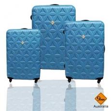 行李箱 旅行箱 Gate9花花系列ABS霧面 拉桿箱 登機箱三件組