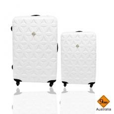 行李箱 旅行箱 Gate9花花系列(28+20)ABS霧面 拉桿箱 登機箱二件組