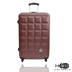 Just Beetle*趣味巧克系ABS輕硬殼28吋旅行箱/行李箱
