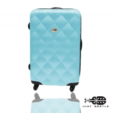 【Just Beetle】菱紋系列ABS輕硬殼行李箱/旅行箱/登機箱/拉桿箱(24吋)