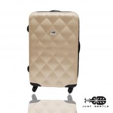 【Just Beetle】菱紋系列ABS輕硬殼行李箱/旅行箱/登機箱/拉桿箱(28吋)雙層加大