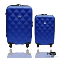 【Just Beetle】菱紋系列ABS輕硬殼行李箱/旅行箱/登機箱/拉桿箱兩件組(28+20吋)