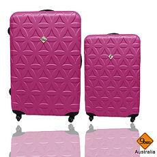 行李箱|28+20吋【Gate9】花花系列ABS輕硬殼行李箱