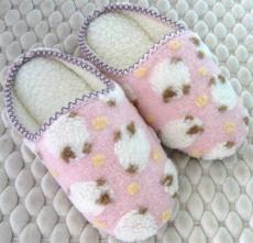 (e鞋院) [溫馴小綿羊]麂皮毛織室內拖鞋