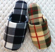 (e鞋院) 【簡約格紋 】絨毛舒適室內拖鞋(2雙特價)