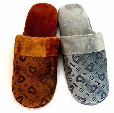 (e鞋院) 暖暖愛心舒適室內拖鞋(2雙特價)