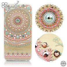 apbs iPhone6s Plus/6 Plus 施華洛世奇彩鑽手機殼-滿版圖騰