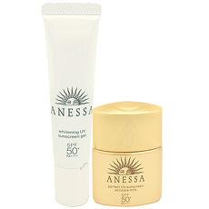 SHISEIDO資生堂 ANESSA安耐曬 金鑽高效防曬露EX(12ml)+美白保濕防曬凝膠(15g)