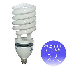 【東亞岱亞】75W 110V E27螺旋省電燈泡-2入(晝/黃)